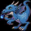 ロウディドラゴン(青)