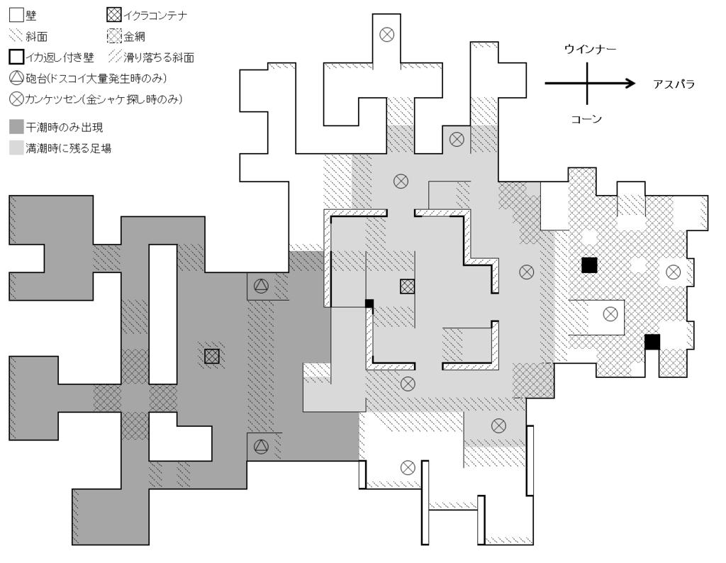 海上集落シャケト場簡易マップ