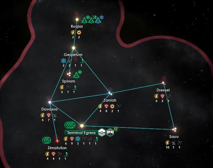 Lクラスター星系図