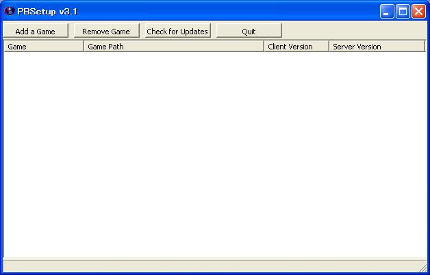2008/06/28 - PBSetup v3.1 デフォルト画面