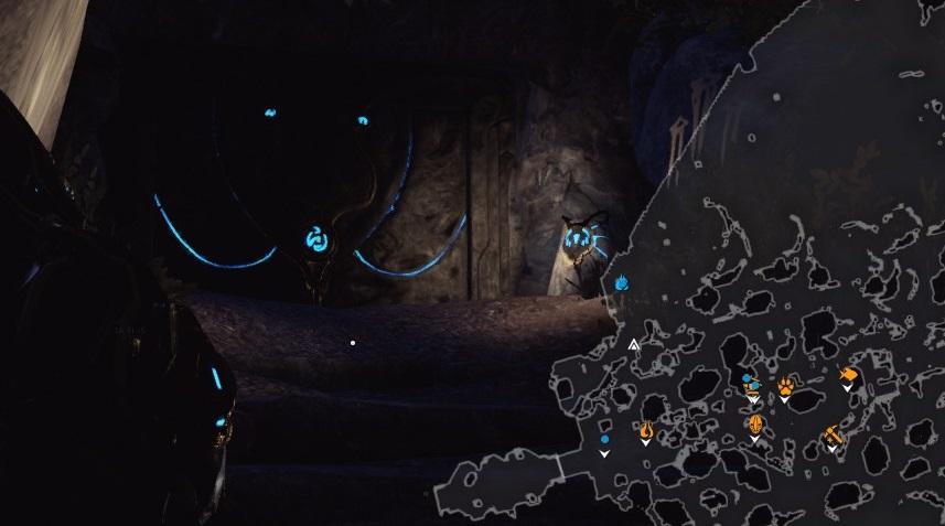 マップ上で言うと自アイコンの上の青い部分