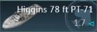 Higgins 78 ft PT-71