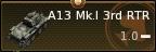 A13 Mk.I 3rd RTR