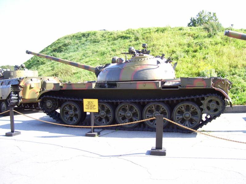 キエフの大祖国戦争歴史博物館で展示されるT-54の1953年型