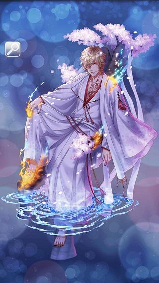 月下の妖かし桜 アポロ月